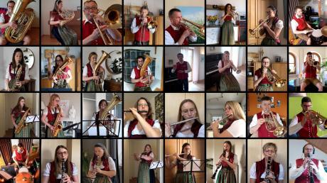 Die Mitglieder der Musikkapelle Tapfheim haben ihre Stimmen jeweils einzeln eingespielt. Am Ende wurde daraus ein Video zusammengesetzt, das jetzt im Internet anzuschauen ist.