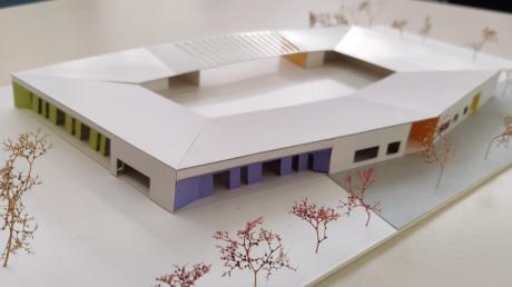 """So sieht aktuell die Variante """"Stadionform"""" des Kindergartens aus, der im Baugebiet """"Unterer Kirchbaumweg"""" entstehen soll."""