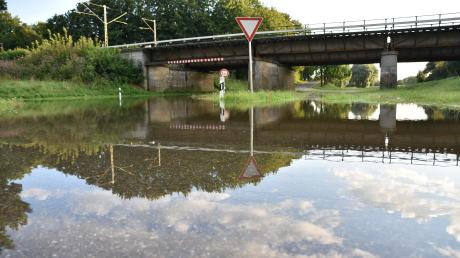 Verregneter Sommer: Durch das Hochwasser der Donau wurde auch die Auchsesheimer Unterführung in Donauwörth überflutet.