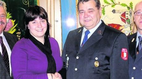 Zweite Kommandantin Alexandra Lix mit Vorgänger Heinz Tönnis.