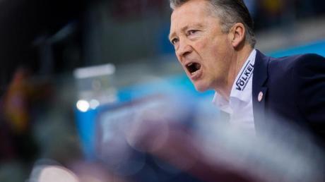 Trainer Harold Kreis Düsseldorfer EG hat mit der Niederlage gegen die Eisbären Berlin das Playoff-Heimrecht verspielt. Foto: R. Vennenbernd