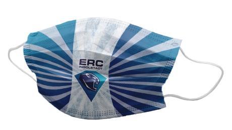 Modische Erscheinung: Auch beim ERC Ingolstadt gibt es mittlerweile Atemschutz-Masken in den Vereinsfarben.