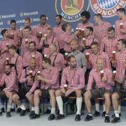FC Bayern, Paulaner; Werbeshooting; Bier