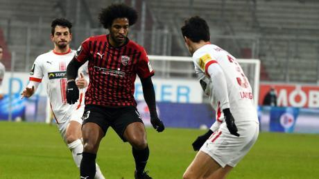 Konnte nach seiner Einwechslung keine entscheidenden Impulse setzen: Caiuby kam mit dem FC Ingolstadt nicht über ein 1:1 gegen Halle hinaus.