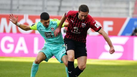 Fällt aus: Rico Preißinger (rechts) hat sich erneut an der Schulter verletzt, wird länger fehlen und dem FC Ingolstadt somit im Pokalspiel bei 1860 München nicht zur Verfügung stehen.