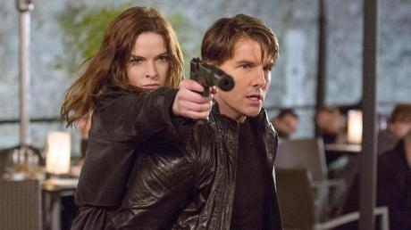 """Rebecca Ferguson und Tom Cruise wollen auch im neuen """"Mission-Impossible""""-Film als Agenten eine Mission lösen."""
