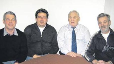 Werner Grundler, Josef Kölnsperger, Franz Wasmeier, Hermann Hecher (von links).