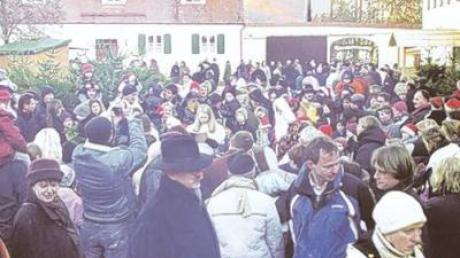 Großveranstaltungen auf Gut Mergen-thau – hier der Weihnachtsmarkt – werden in Friedberg mit wachsendem Vorbehalt gesehen.