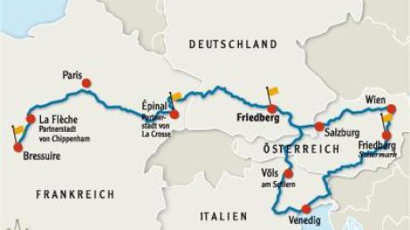 Bei einer großen Rundfahrt wollen 2013 die Franzosen Friedberg und seine Partnerstädte ansteuern.