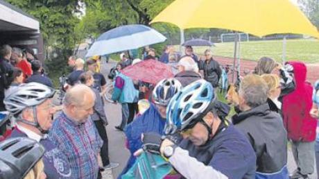 Auch dem gelegentlichen Regen am Nachmittag trotzten die Teilnehmer.