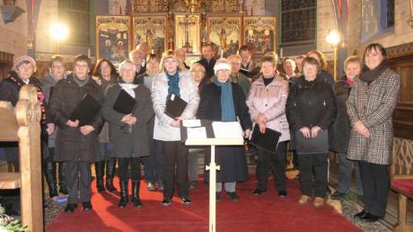 Die Chorgemeinschaft Mittelstetten hatte ihr traditionelles Weihnachtssingen in der Mittelstettener Kirche.