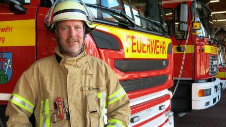Markus Rietzler ist Vorsitzender der Freiwilligen Feuerwehr Friedberg.