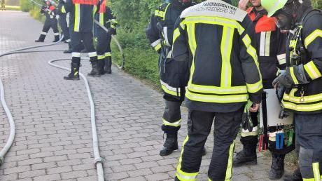 Die Feuerwehr Ried hat an der Schule einen Großeinsatz geübt.
