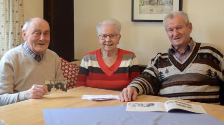 Drei Tischtennisspieler, die schon vor 70 Jahren für den TTC zum Schläger griffen und heute noch im Verein sind: Christian Hündl, Leni Böller und Simon Konrad (von links). Sie werden auch beim 70. Geburtstag des Vereins mit von der Partie sein.