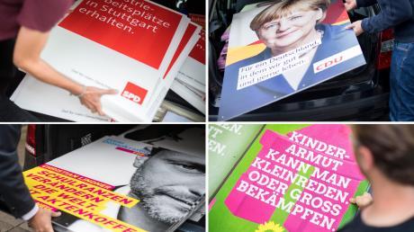 Bei der Landtagswahl haben auch viele junge Parteimitglieder Plakate geklebt und Infostände betreut.