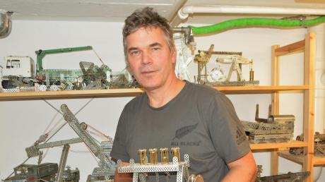 Seit Kindertagen sammelt Peter Pfaffenzeller auch Metallbaukästen.