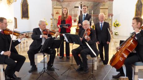 Das Stephanusquartett gab gemeinsam mit Gesangssolisten ein Konzert in der Wallfahrtskirche Herrgottsruh. Für das Programm zeichnete Roland Plomer verantwortlich. Foto: Ulrich Mayr