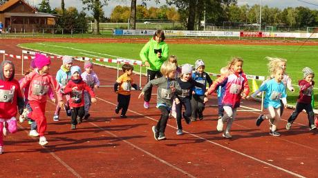 Die Kleinsten am Start: 24 Kinder liefen 400 Meter.