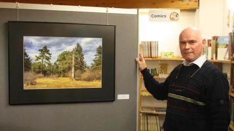 Der Leiter der Foto- und Filmfreunde Mering, Manfred Köhler, widmet sich in seiner Ausstellung dem Mythos Wald.