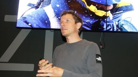 Extrembergsteiger David Göttler sprach über seine Erlebnisse auf den höchsten Gipfeln der Welt.