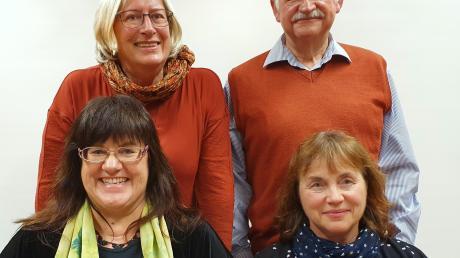 Die Bürgergemeinschaft Ried hat ihren Vorstand gewählt: (von links) unten: Elisabeth Fischer, 1. Vorsitzende, Ute Schübele-Weber, Kassenwartin, oben: Christine Peters, Schriftführerin und Siegfried Bless, stellvertretender Vorsitzender.