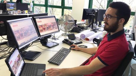Martin Holz ist im zweiten Lehrjahr zum Kaufmann im E-Commerce bei Segmüller. Er steuert und betreut unter anderem den Online-Shop.