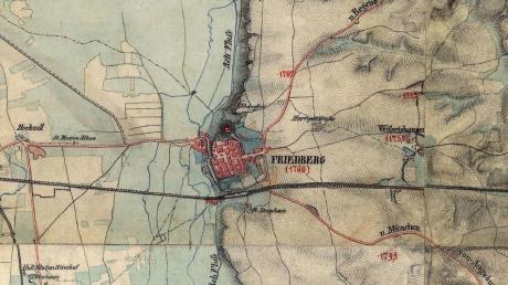 Friedberg präsentiert sich in der ersten Hälfte des 19. Jahrhunderts wie eine Grenzstadt – die letzte Bastion Altbayerns an der Grenze zu Schwaben.
