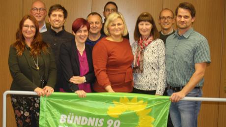 Die Kissinger Grünen startet mit ihrer Spitzenkandidatin Katrin Müllegger-Steiger (Dritte von links) in den Kommunalwahlkampf.