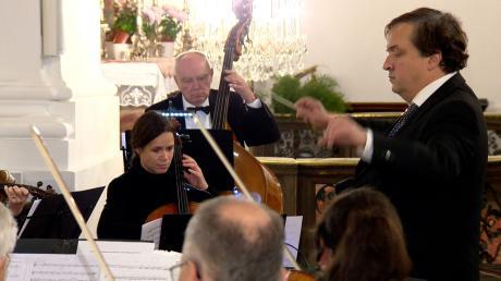 Das Kammerorchester Friedberg gab unter der Leitung von Stefan Immler ein stimmungsvolles Konzert in Herrgottsruh. Foto: uv media production