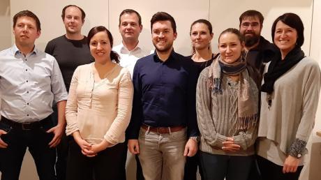 Die Kandidatenliste der Freien Wähler für die Wahl 2020: Andreas Sandmair, Werner Sanktjohanser, Susanne Lam, Paul Graf, Mario Lutz, Sabrina Hruschka, Carina Wender, Thomas Metzger und Sarah Hertle (von links).
