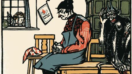 """Der """"Hies"""" – hier das Deckblatt – war das erste Buch das Taschner für seinen Freund Ludwig Thoma gestaltete."""
