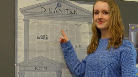 """Lea Kolb vom Gymnasium Friedberg hat sich für die Endrunde des Wettbewerbs """"Zukunft braucht Herkunft"""" qualifiziert."""
