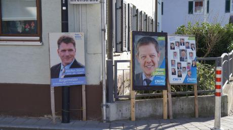 Markus Storch von den Freien Wählern und Helmut Luichtl von der CSU müssen noch einmal in der Stichwahl für das Bürgermeisteramt in Merching gegeneinander antreten.