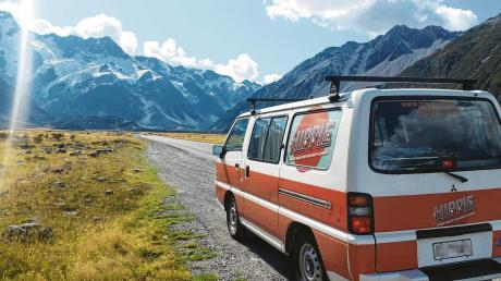 Mit dem Campingbus am Mount Cook auf der Südinsel. Vor drei Wochen war die Reise unserer Mitarbeiterin Heike John durch Neuseeland noch unbeschwert.