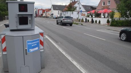 Eine Woche lang stand das Messgerät an der Bürgermeister-Wohlfarth-Straße in Königsbrunn.