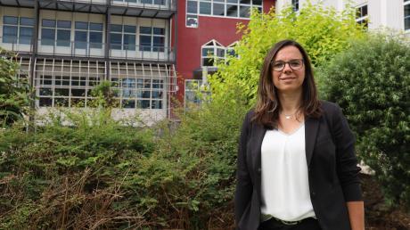 Daniela Walther ist die neue Schulleiterin an der Konradin-Realschule Friedberg. Sie fühlt sich sehr wohl und möchte für die Menschen da sein und gemeinsam neue Impulse setzen.