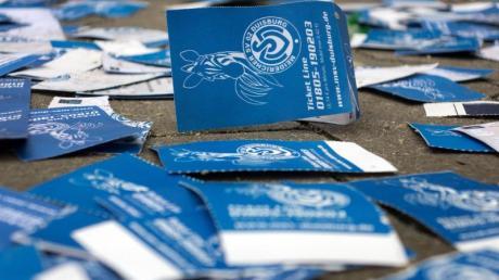 Der MSV Duisburg hofft, die Lizenz für die 3. Liga zu bekommen. Foto: Martin Gerten
