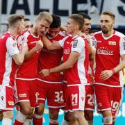 Die Spieler von Union Berlin sind heiß auf den Aufstieg. Foto: Roland Weihrauch
