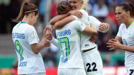 Wolfsburgs Fußball-Frauen stehen im Königsklassen-Viertelfinale.