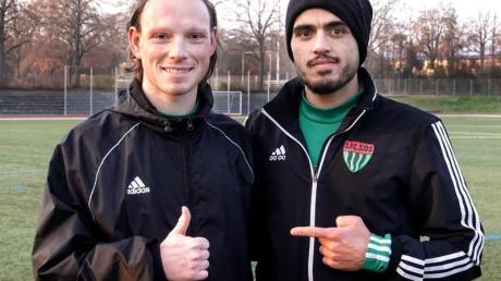 Mehr als nur Teamkollegen: Christian Köppel (l) und Mohamad Awata.