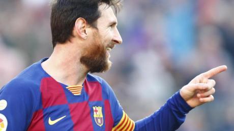Barcelonas Superstar Lionel Messi traf gleich vier Mal gegen den SD Eibar.
