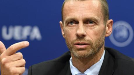 Als Krisen-Manager auf der europäischen Fußball-Bühne gefragt:UEFA-Boss Aleksander Ceferin.