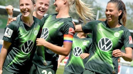 Die Wolfsburger Fußball-Frauen sind in der Champions League gegen Glasgow gefordert.