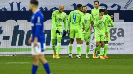 Der VfL Wolfsburg setzte sich beim FCSchalke 04 durch.