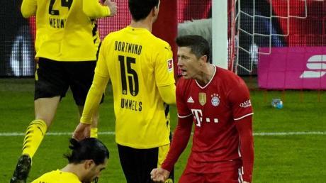 Dreifach-Torschütze Robert Lewandowski jubelt über seinen Treffer zum zwischenzeitlichen 2:2.