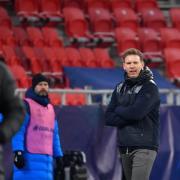 Der RB Leipzig, im Bild Trainer Julian Nagelsmann, steht im Halbfinale des DFB-Pokals 20/21. Wo die Partien des DFB-Halbfinales live im Free-TV auf ARD oder Sport1 oder im Pay-TV auf Sky zu sehen sind, erfahren Sie hier.