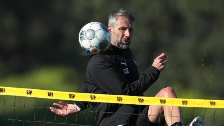 Konnte sich intensiv mit seinem Team auf das wichtige Spiel in Augsburg vorbereiten: Gladbach-Coach Marco Rose.