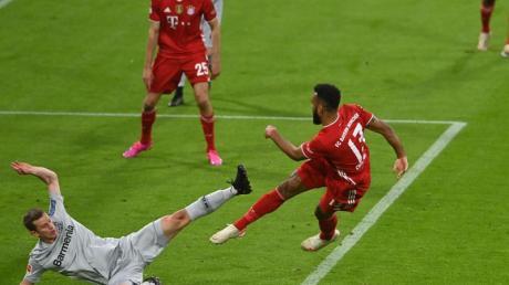 Eric Maxim Choupo-Moting brachte die Bayern gegen Leverkusen in Führung.