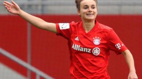 Trifft mit Bayerns Fußball-Frauen auf den FCChelsea:Lina Magull.