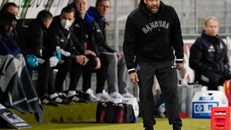 HSV-Trainer Daniel Thioune konnte die Niederlage gegen den SV Sandhausen nicht verhindern.